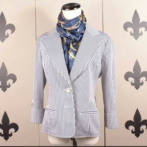 St John yellow label seersucker blazer